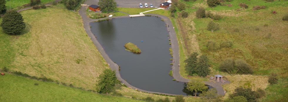 Fly fishing lake at Hillhead Fishery